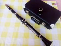 Profi klarinét, Clemens Meinel Wernitzgrün gyártmány, egyedi retro darab. Hangszer gyűjteménybe
