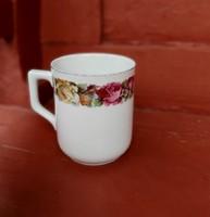 Ritka virágos, rózsás Zsolnay bögre, Gyűjtői szépség ritkaság, nosztalgia darab