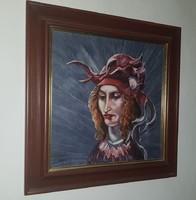 Portré olaj farost