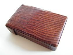 Vintage gyíkbőr cigarettatárca, tartó