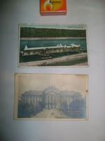 Régi képeslap - két darab - Eger Pedagógiai Főiskola, Tolna Strandfürdő