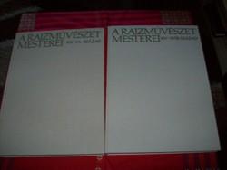 A rajzművészet mesterei  XIV-XVIII. sz, XIX-XX. sz. Két kötet