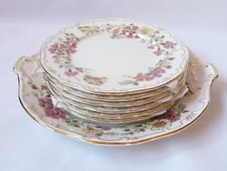 Zsolnay Pillangó mintás süteményes készlet