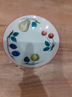 #19, Kezi festes kis porcelán tányér, 11cm szeles