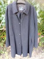 Nagyon szép férfi bárány gyapjú  kabát  sötét grafit szín XL 50 52   120 mell 120 derék 107hossz