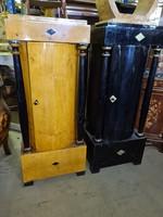 Ritka biedermeier topolya és fekete 1ajtós szekrény