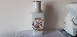 Hollóházi porcelán paradicsommadaras váza óriás váza