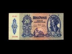 20 PENGŐ - 1941 - HÁBORÚ ELŐTTI SOR 4. TAGJA - REMEK DARAB