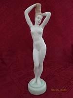 Aquincumi  porcelán figurális szobor. A fésülködő nő, magassága 26 cm.