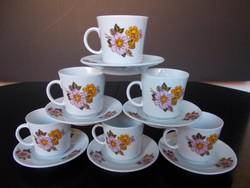 Alföldi porcelán virágmintás kávéskésztet