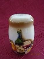 Német porcelán sószóró, sohasem használták. Magassága 7 cm.