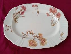 55 Antik angol Ivory  süteményes tál szegfű mintával 34 x 27 cm
