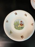 Régi porcelán gyermek tányér