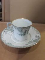 Angol teás csésze aljjal, 16 cm átmérőjű, 7 cm magas, hibátlan.