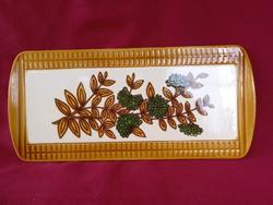 50 Herbolzheim kerámia süteményes tál tálca 35x16 cm