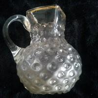 Gyönyörű, régi kancsó,szakított hutaüveg