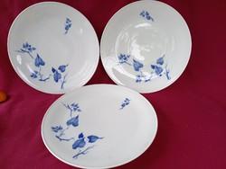 55 3 db nagy méretű kék levél mintás Schönwald lapos tányér 27 cm