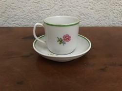 Hollóházi porcelán csésze és alj P256