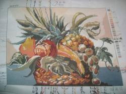 Gobelin falikép keret nélkül - gyümölcs csendélet