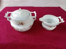55 Antik Stipo Dorohoi porcelán leveses tál és szószos tál különleges darabok