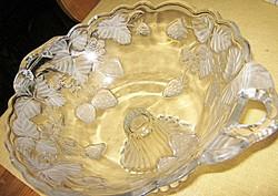 Epres talpas asztalközép  gyümölcs kínáló tál