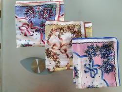 3 db-os antik batiszt zsebkendő szett