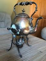 Antik spirituszos melegítős teáskanna