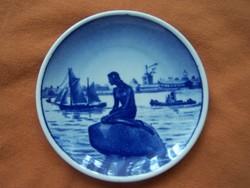 Royal Copenhagen porcelán dísztál a Kis hableány