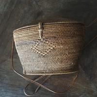 Antik fonott váll táska kosárka Ritkaság