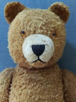 Antik brummogó teddy mackó szalma mackó