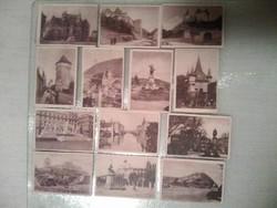 Pallas nyomda által kibocsájtott kártya méretű képek a Nagy Magyarországból, 13 db