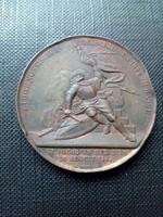 1844 Svájc , Basel Fegyveres gyakorlat emlékére kiadott emlékérme