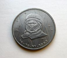 CCCP – 1 Rubel – 1983 – 20. évforduló – Az első nő a világűrben – Valentyina Tyereskova