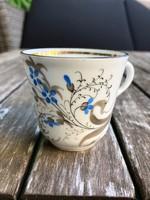 Antik kézi festésü finom porcelán kávés csésze