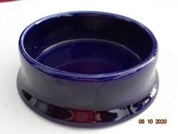 Japán porcelán gyertyatartó, kobalt kék színű, felső átmérője 6 cm.