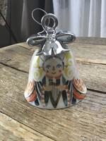 Régebbi ALESSI porcelán karácsonyi csengődísz