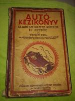 Autó kézikönyv 1929 évből