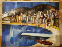 Aba-Novák tempera festmény eladó
