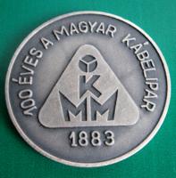 100 éves a MAGYAR KÁBELIPAR - 1883 -1983 -  jubileumi emlékérem