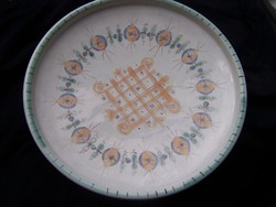 Gorka Géza asztalközép tál /falitál - hibátlan, jelzett d=30,5 cm