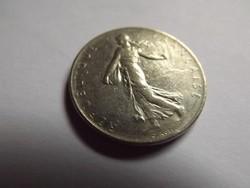 Szép 1  Franc ( Frank ) Franciaország  1977 !!