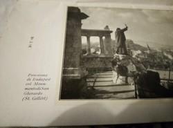 Olasz nyelvű turisztikai ismertető Budapestről . 1937 - ből