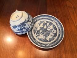 100 éves, antik kínai teás csésze aljjal