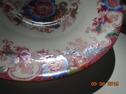 Antik angol újszerű kézzel festett számozott virág mintás finom porcelán teás csésze alátét-14,5 cm