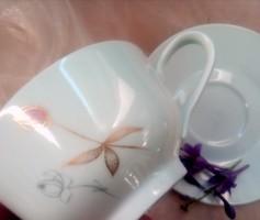 Arany virágos teás csésze Rosenthal