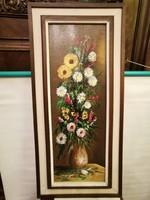 MAJO szignóval virágváza csendélet cca: 1970