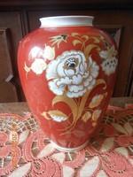 Wallendorf porcelán, nagy méretű váza 30 cm
