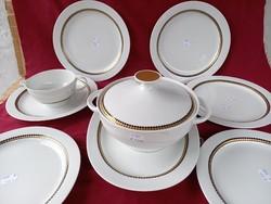 40 6 db lapos tányér húsos szószos és pörköltes tál  akár külön is Thomas Bavaria