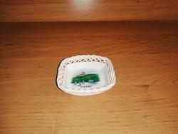 Bodrogkeresztúri kerámia áttört szélű Tihany emlék tálka 8*9 cm (po-1)