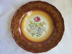 Csehszlovák Altwien porcelán fali tányér